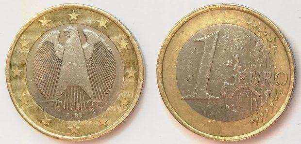 1 Euro Allemagne 2002J