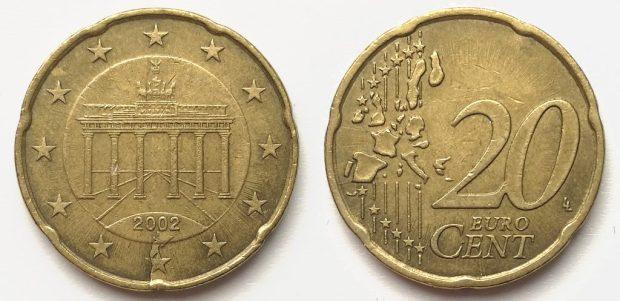 20 Cent Allemagne 2002J