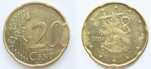 20 Cent Finlande 2001