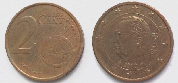 2 Cent Belgique 2012