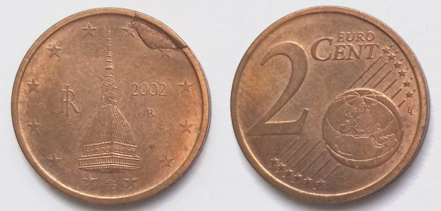 2 Cent Italie 2002
