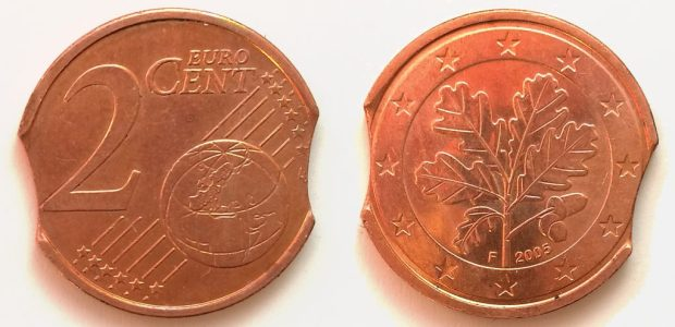 2 Cent Allemagne 2005F double lunule