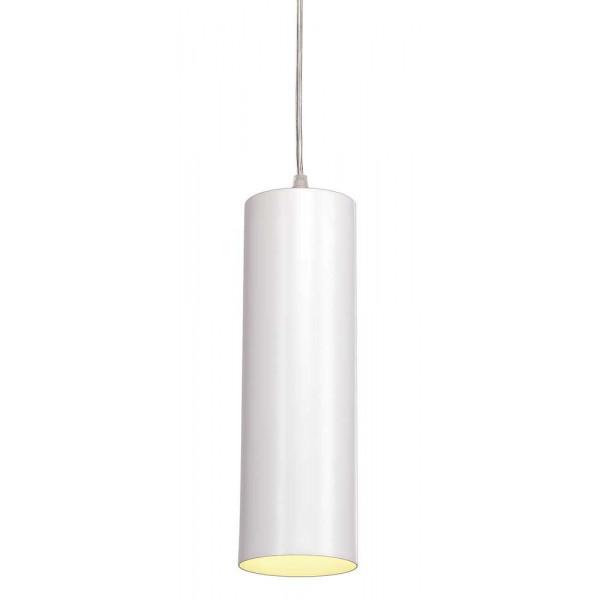 Suspension de bar cylindrique métal blanc - Lampe Avenue