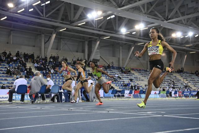 Cynthia Leduc a remporté le titre sur 60m. (A. Mounic/L'Équipe)