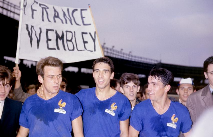 Philippe Gondet, Bernard Bousquier e Louis Cardiet in Francia vs. Jugoslavia del 1965