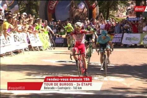 Cyclisme sur route - Tour de Burgos - Francesco Gavazzi a remporté la première étape du Tour de Burgos ( L'Equipe)