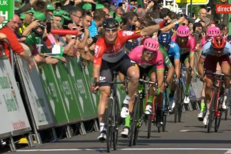 Cyclisme sur route - Cyclisme sur route - Greipel a dominé le sprint en direct sur la chaîne L'Equipe. (capture écran)