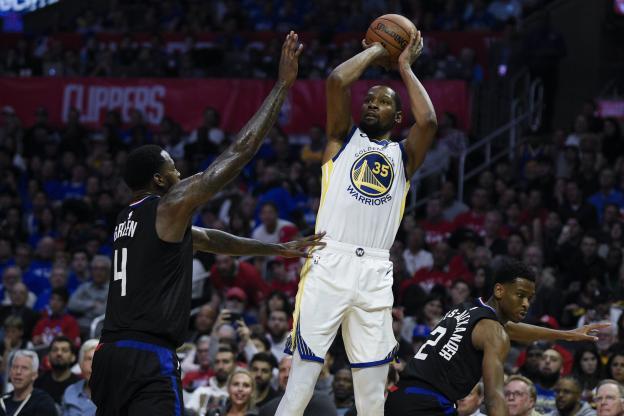 Basket - NBA - Kevin Durant a inscrit 38 points contre les Clippers jeudi soir. (Reuters)