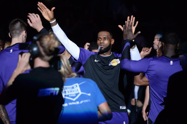 Basket - NBA - LeBron James a savouré sa première avec les Lakers. (USA Today sports)