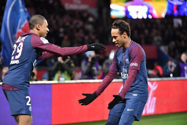 Football - Syanie Dalmat - Mbappé et Neymar espèrent faire le bonheur du PSG en 2019. (P.) Lahalle/ L'Équipe
