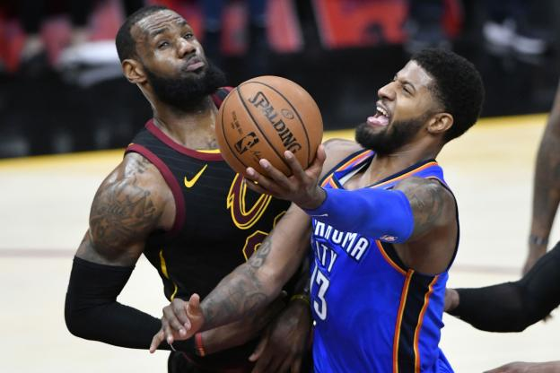 Basketball - NBA - Paul George has rocked LeBron James. (Reuters)
