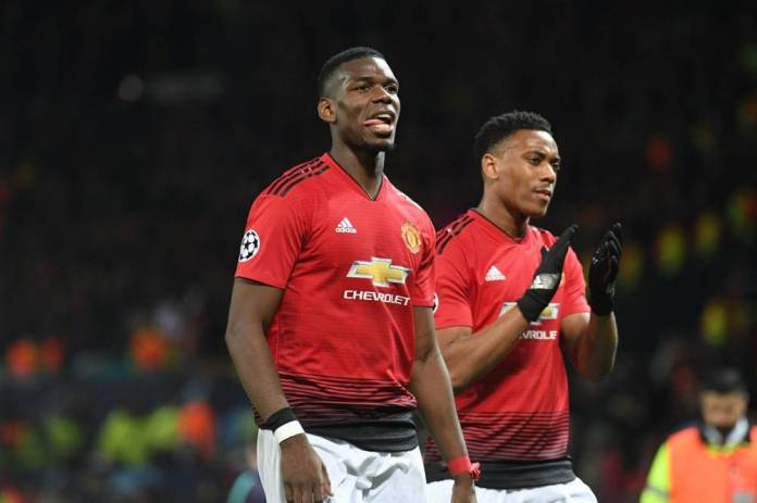 Paul Pogba is present against the Saints, not Anthony Martial. (L'Equipe)