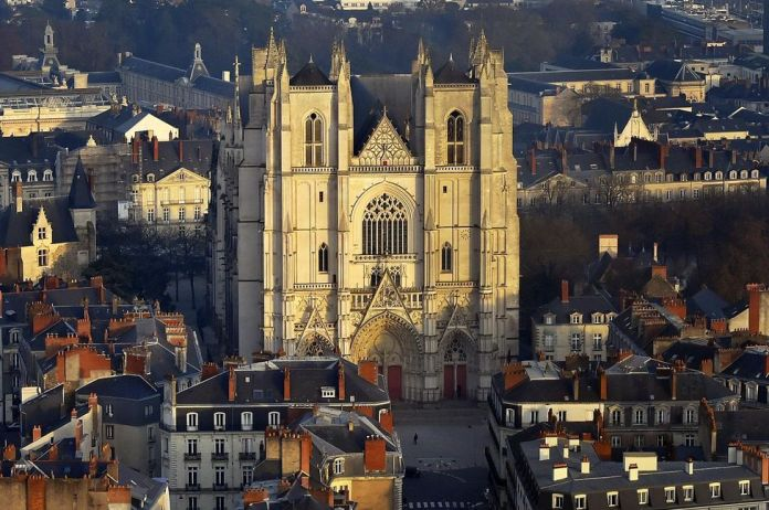 The Saint-Pierre-et-Saint-Paul Cathedral in Nantes, in January 2017.