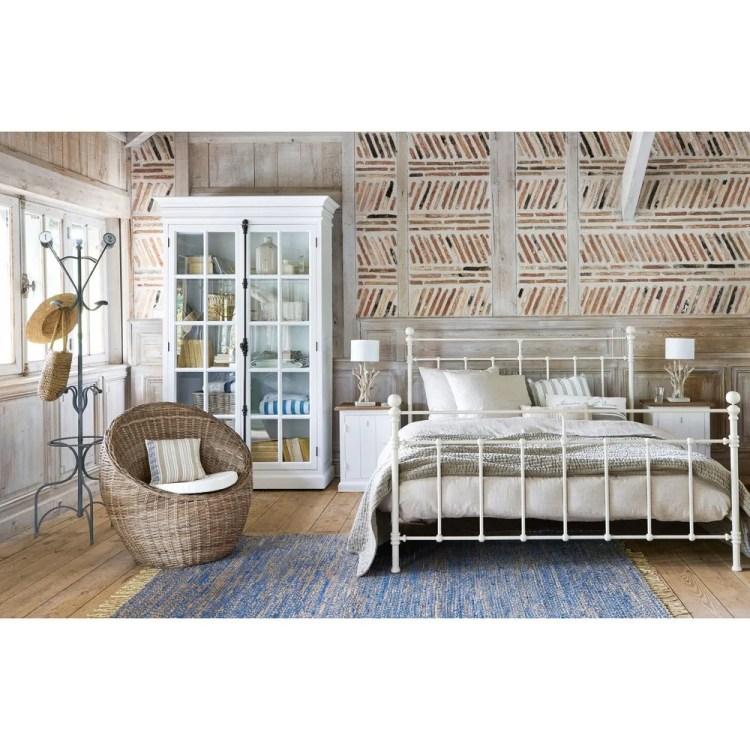 SYRACUSE - Cama 160 × 200 cm de metal marfil 269,00 € de Maisons du Monde