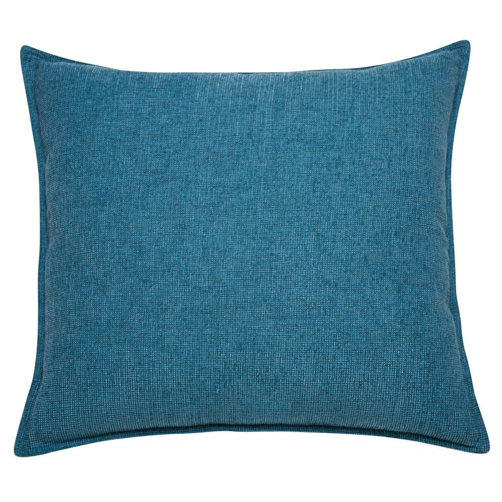 coussin en tissu bleu cobalt 60x60 chenille