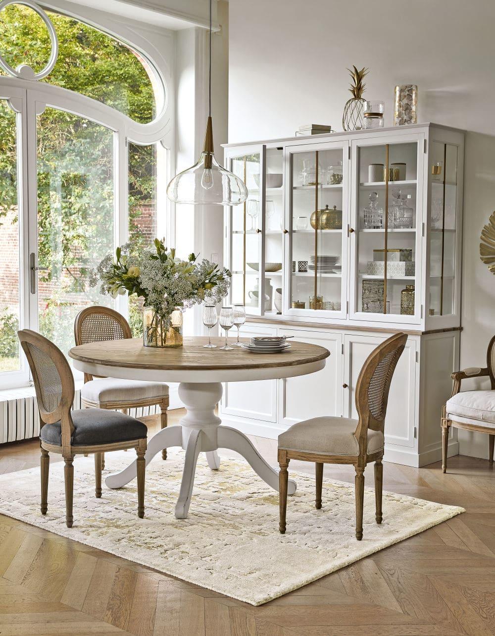 mesa de jantar extensivel de 6 8 pessoas comprimento 140 190 maisons du monde