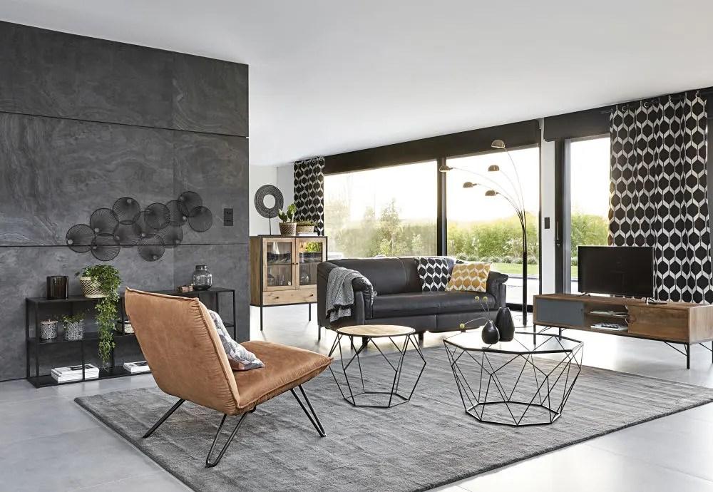 2 sitzer relaxsofa mit motorsteuerung und schwarzem lederbezug maisons du monde