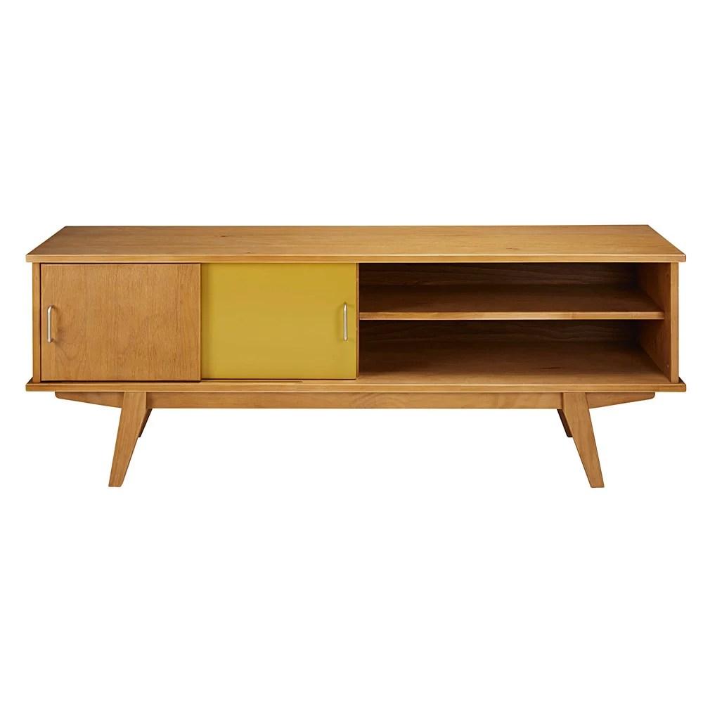 meuble tv vintage 2 portes tricolore paulette