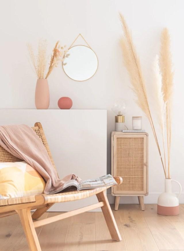 mueble auxiliar fibras naturales