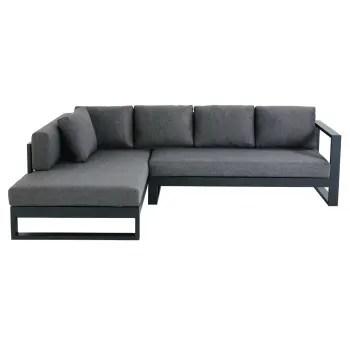 4 5 sitzer gartenecksofa aus schwarzem aluminium maisons du monde