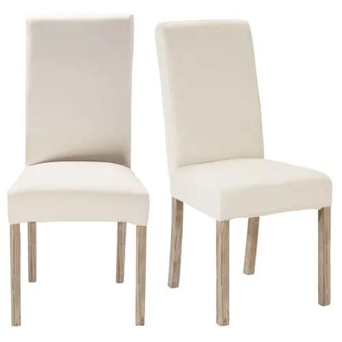 2 chaises a housser en pin blanchi maisons du monde