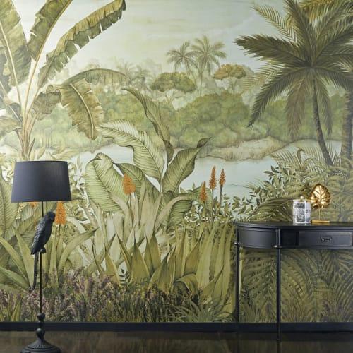 Dai un'occhiata ai nostri mobili e oggetti. 350x300cm Tropical Landscape Print Non Woven Wallpaper Tropical Maisons Du Monde