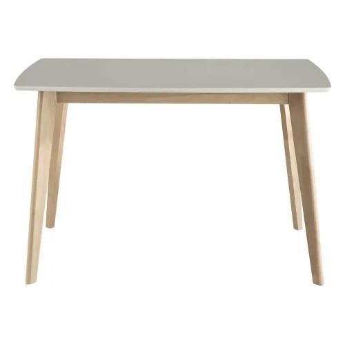 4 6 seater white dining table l120 maisons du monde
