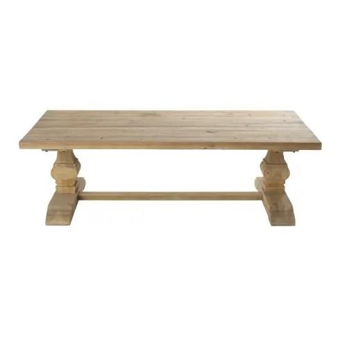 aged effect pine coffee table maisons du monde