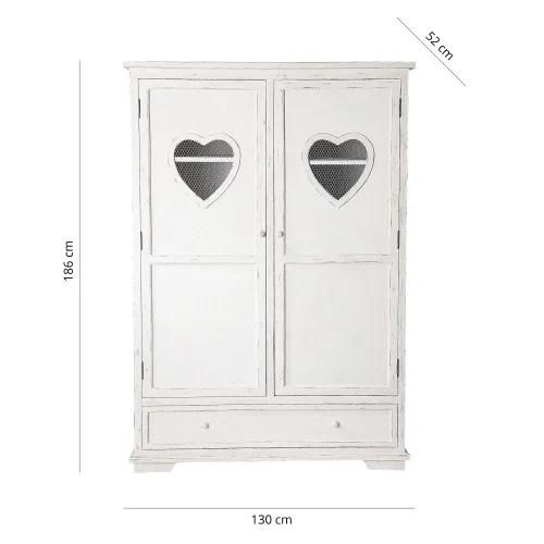 armoire blanche 2 portes 1 tiroir maisons du monde