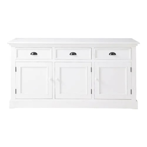 buffet 3 portes 3 tiroirs blanc maisons du monde