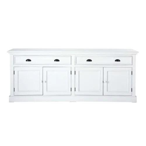 buffet 4 portes 4 tiroirs blanc maisons du monde