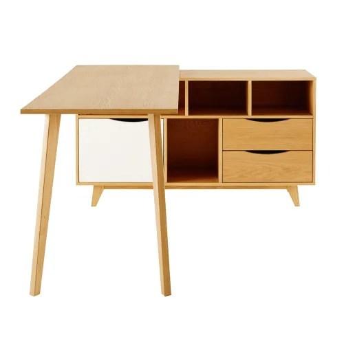 bureau d angle 1 porte 2 tiroirs maisons du monde