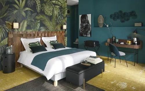 Compra il design che più ti piace delle nostre carte da parati con foglie e decora il tuo ambiente domestico in modo innovativo e originale! Carta Da Parati In Tessuto Non Tessuto Con Stampa Vegetale 288x350 Cm Green Addict Maisons Du Monde