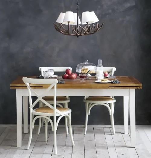 chaise bistrot en rotin et bouleau blanc maisons du monde