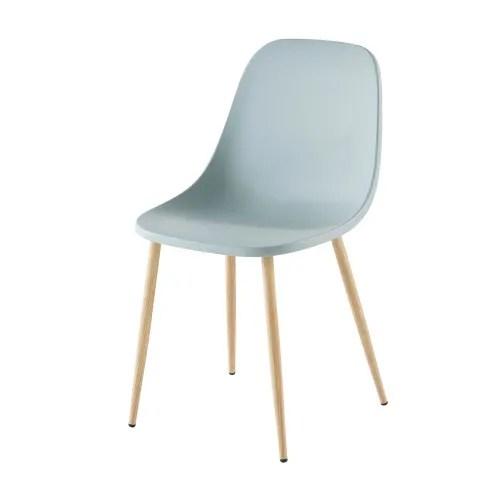 chaise contemporaine bleu gris maisons du monde