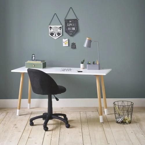 chaise de bureau enfant a roulettes gris anthracite maisons du monde