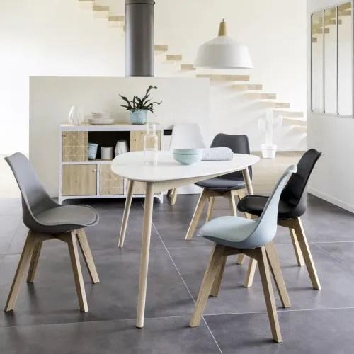 chaise style scandinave grise et chene massif maisons du monde