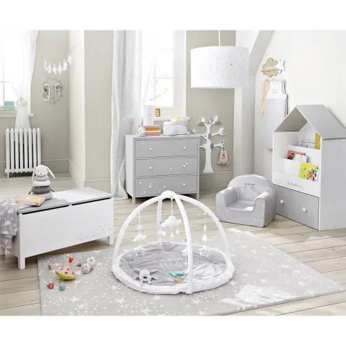 coffre a jouets blanc et gris motifs etoiles maisons du monde