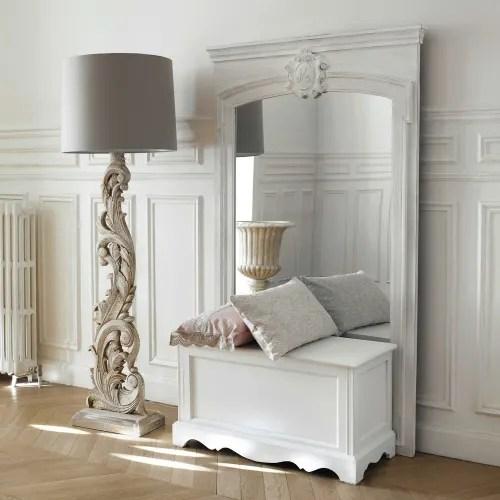 coffre en bois de paulownia blanc l 80 cm maisons du monde