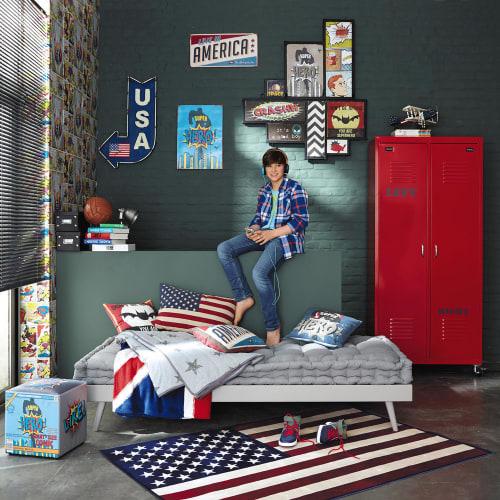 coussin en coton imprime drapeau americain 40x60 maisons du monde