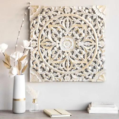 29 migliori idee per la decorazione della parete della sala. Decorazione Da Parete Dorata 60x60 Cm Maisons Du Monde