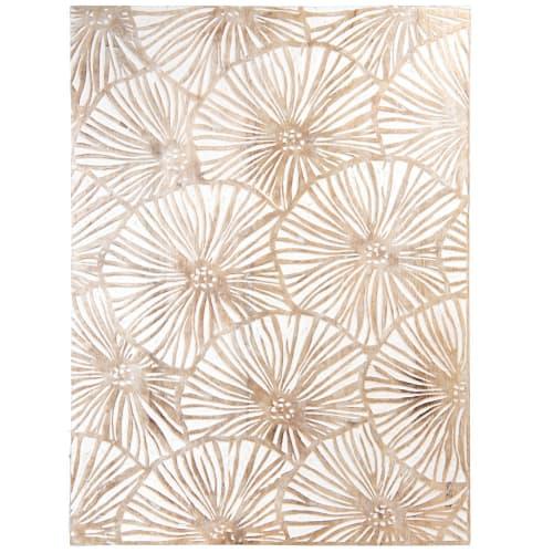 Catalogo online, storia, stile e mobili per arredare. Decorazione Da Parete In Mango Inciso Bianco E Beige 60x80 Cm Carving Kraft Maisons Du Monde