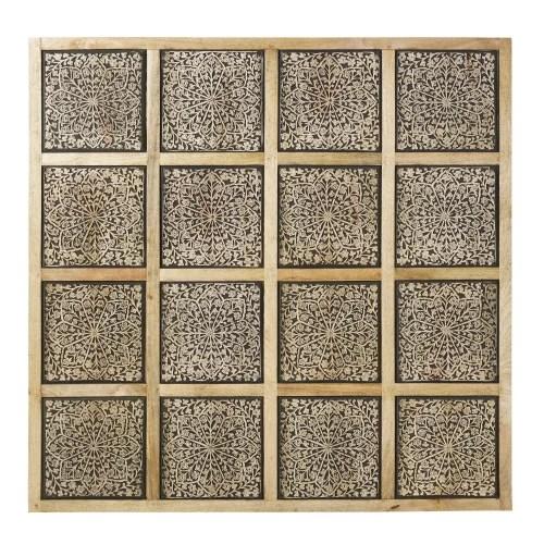 Sedia acquistata da maison di monde. Decorazione Da Parete In Mango Scolpito Nero Fumo 122x122 Cm Milenka Maisons Du Monde
