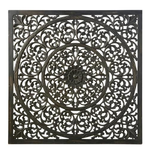 Arriva la nuova collezione maisons du monde natale 2019: Decorazione Da Parete Scolpita Nera 120x120 Cm Emilja Maisons Du Monde