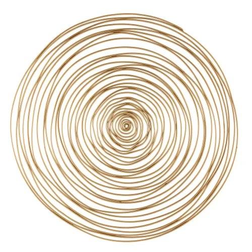 Scopri le collezioni di divani e poltrone firmate maisons du monde. Decorazione Da Parete Spirale In Metallo Dorata 91 Cm Jill Maisons Du Monde
