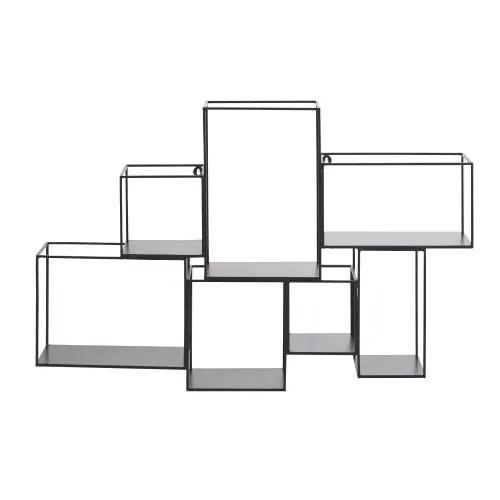 etageres cubes en metal noir maisons du monde