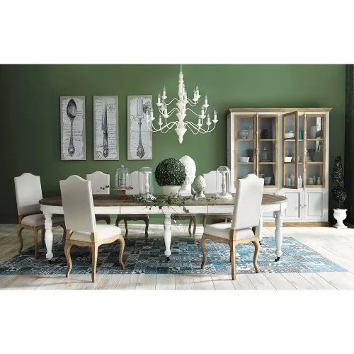extendible 6 14 seater dining table on castors l 125 325 maisons du monde