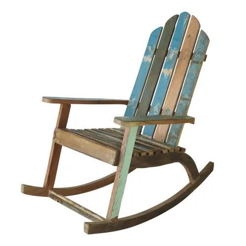 fauteuil a bascule en bois recycle maisons du monde