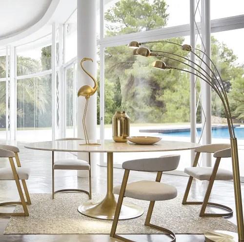 fauteuil ecru chine et metal coloris laiton maisons du monde