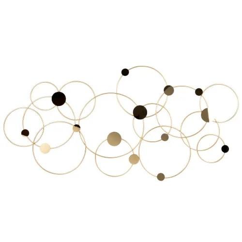 Benvenuto sulla pagina facebook di maisons du monde. Gold Metal Circles Wall Art 90x45cm Evana Maisons Du Monde